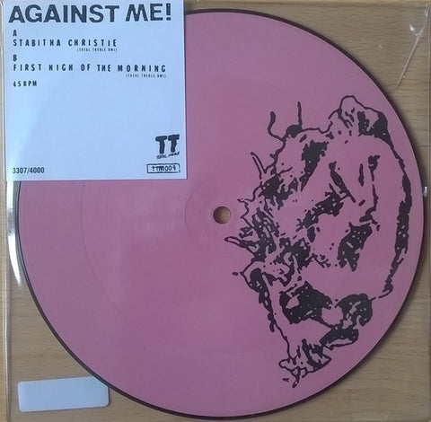 "Against Me! - Stabitha Christie - New 7"" Vinyl 2017 Total Treble Record Store Day Picture Disc, Numbered to 4000 - Punk / Rock"