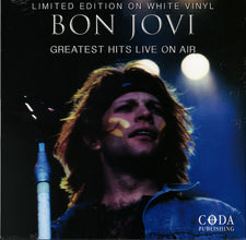 Bon Jovi ‎– Greatest Hits Live On Air - New Vinyl 2016 Coda Publishing Limited Edition Compilation on White Vinyl (Czech Import Pressing) - Rock
