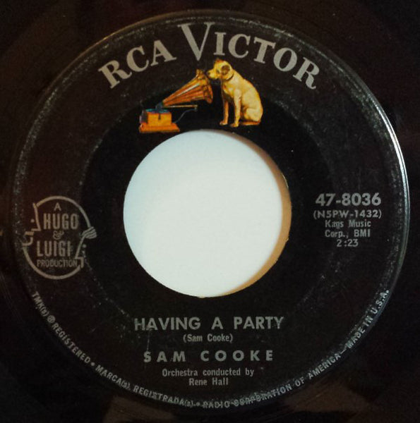 "Sam Cooke - Having A Party / Bring It On Home To Me VG- - 7"" Single 45RPM 1962 RCA Victor USA - Funk/Soul"
