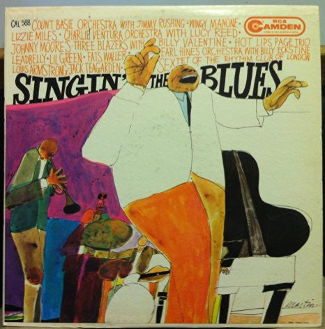 Count Basie & Friends - Singin' The Blues -  VG+ 1960 USA Mono RCA David Stone Martin Cover Art - B1-077