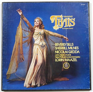 Maazel WIth Beverly Sills & Sherill Milnes / Massenet : Thais - New Vinyl Record 1976 Stereo (Original Press) 3 Lp Set USA Stereo - Classical/Opera