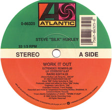 "Steve ""Silk"" Hurley - Work It Out VG+ - 12"" Single 1989 Atlantic USA - Chicago House"