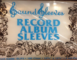 "SLP3 Plastic Record Album Sleeves 3 MIL Poly sleeve - 12"" LP (12 3/4 x 12 3/4) 100 Pack"