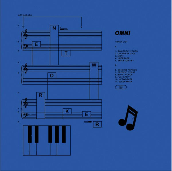 Omni ‎– Networker - New Record LP 2019 SubPop Limited Loser Edition Blue Color Vinyl with Download - Indie Rock
