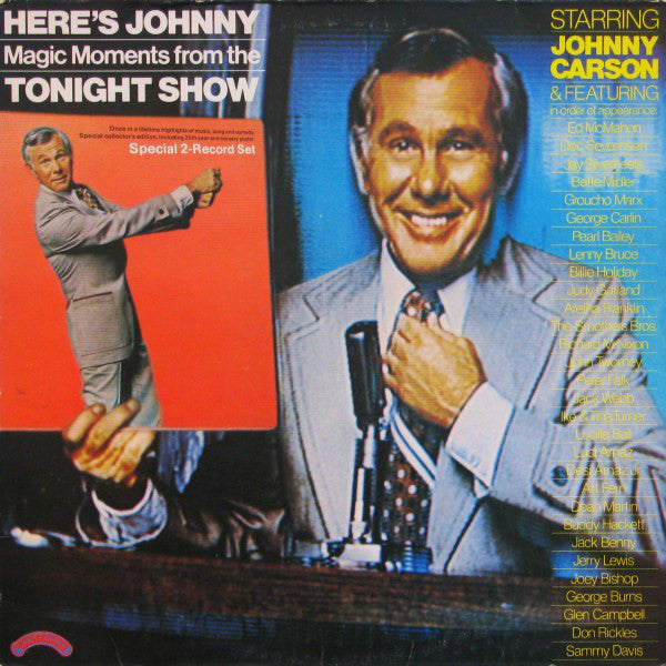 Johnny Carson & Guests (Billie Holiday/Aretha Franklin/& Many More) - Here's Johnny.... Magic Moments From The Tonight Show - Mint- 2 Lp Set 1974 Stereo USA (Original Press With Huge Poster) - Pop/TV