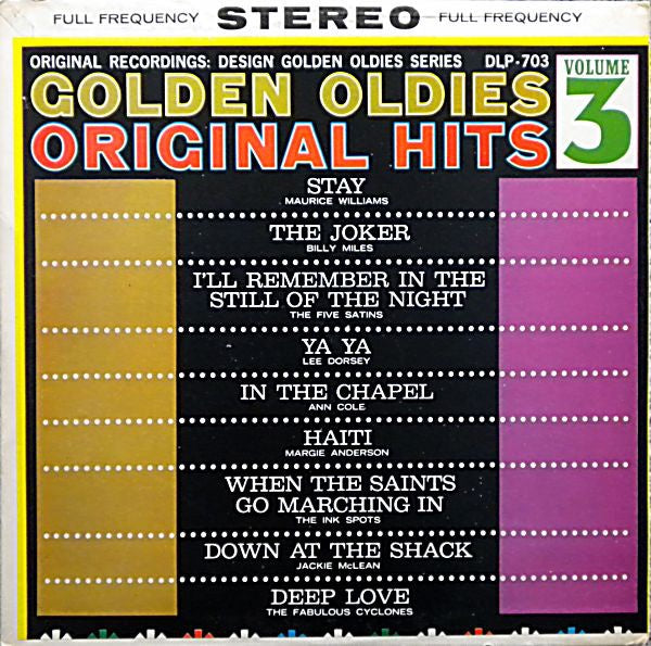 Various ‎– Golden Oldies - Volume 3 - New Lp Record 1963 Stereo Spectrum USA Original Vinyl - Soul / Rhythm & Blues / Doo Wop