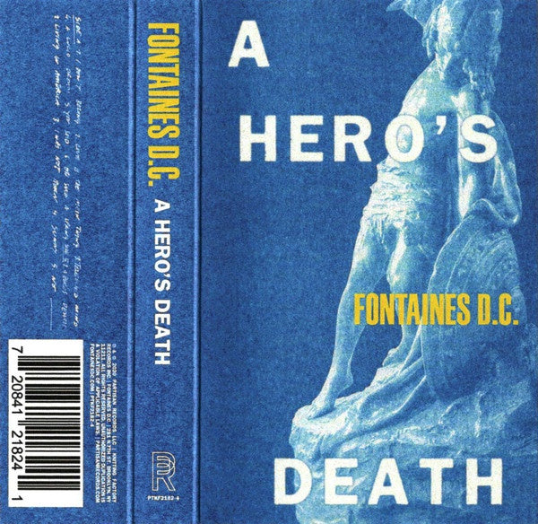 Fontaines D.C. ‎– A Hero's Death - New Cassette 2020 Partisan USA Tape Limited Edition Blue Shell - Post-Punk