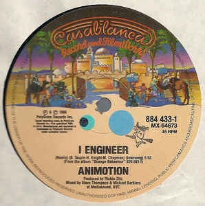 "Animotion ‎- I Engineer / Obsession - VG+ 12"" Single 1986 USA - Synth-Pop / Rock"