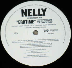 "Nelly ‎- Errtime - Mint- 12"" Stereo 2005 USA Promo Vinyl - Rap / Hip Hop"