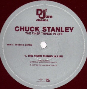 "Chuck Stanley ‎– The Finer Things In Life - Mint 12"" Single Record 2007 UK Def Jam Classics Vinyl - Soul"