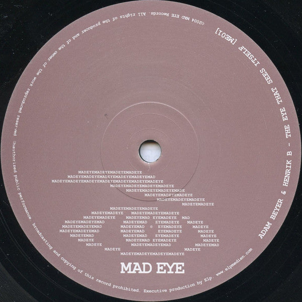 "Adam Beyer & Henrik B ‎– The Eye That Sees Itself - Mint- 12"" Single (Sweden Import) 2004 - Techno"