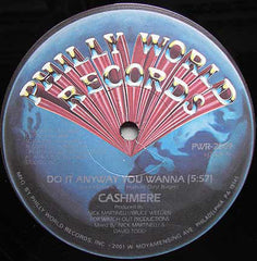 "Cashmere - Do It Anyway You Wanna VG+ - 12"" Single 1983 Philly World USA - Electro"