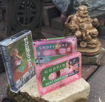 Godfingaz - Beat Invasion Vol. 1 - New Cassette 2019 Clear Pink Tape - Chicago, IL Rap / Beatstrumental