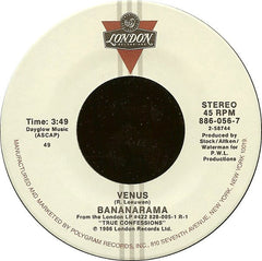 "Bananarama - Venus / White Train Mint- - 7"" Single 45RPM 1986 London USA - Synth-Pop"