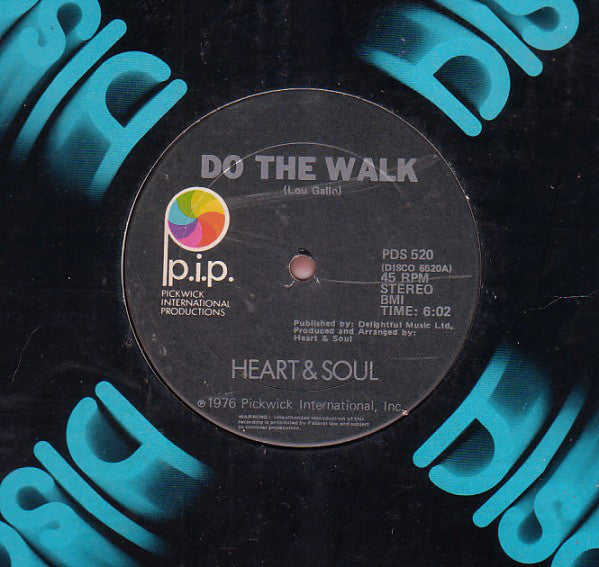 "Heart & Soul - Do The Walk VG+ - 12"" Single 1976 P.I.P. USA - Funk"