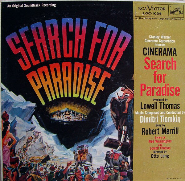Dimitri Tiomkin ‎– Search For Paradise - VG 1957 Mono USA Original Press - Soundtrack