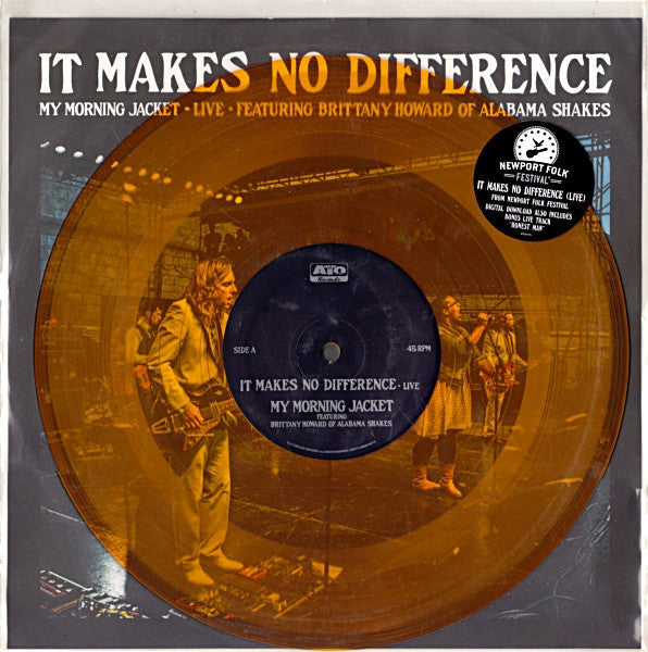 "My Morning Jacket Featuring Brittany Howard Of Alabama Shakes - It Makes No Difference - New 10"" Vinyl 2012 (Limited Orange Vinyl RSD Record Store Day Black Friday) 2000 Made - Rock"