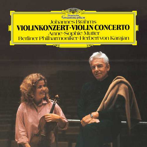 Anne-Sophie Mutter/Berliner Philharmoniker/Herbert von Karajan —Brahms: Violin Concerto In D, Op.77 (1982) - New Vinyl LP Record 2019 Reissue - Classical