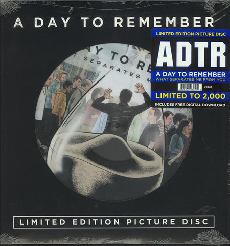 A Day To Remember - What Seperates Me From You - New Vinyl 2016 Victory Records Limited Edition Picture Disc (2000 Made) w/ Download - Pop-Punk / 'Metalcore' fusion' - Shuga Records Chicago