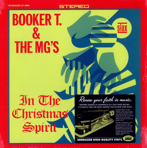 Booker T. & The MG's - In The Christmas Spirit - New Vinyl Record 2014 Sundazed Reissue - Funk / Soul / Christmas