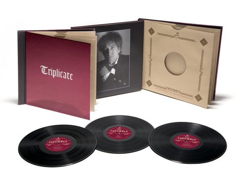 Bob Dylan - Triplicate - New Vinyl Record 2017 Limited Edition Numbered Columbia Deluxe 3-LP on 180Gram Vinyl in 'Vintage Style' Case + Download - Rock / Folk-Rock