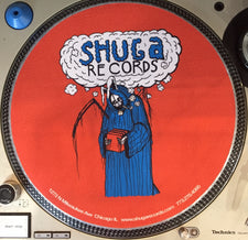 Shuga Records 2016 Limited Edition Vinyl Record Slipmat Uncle Harvey Uncle Bunny blue & Orange