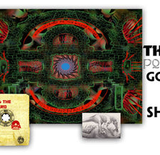 SHIPS DECEMBER 11, 2017 King Gizzard & The Lizard Wizard - Polygondwanaland - New Cassette 2017 Shuga Exclusive Clear With Gold Glitter Double sided four panel J card, Poster & Sticker - Psych / Garage