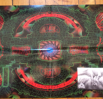 King Gizzard & The Lizard Wizard - Polygondwanaland - New Cassette 2017 Shuga Records 1st Edition Clear With Gold Glitter Double sided four panel J card, Poster & Sticker - Psychedelic