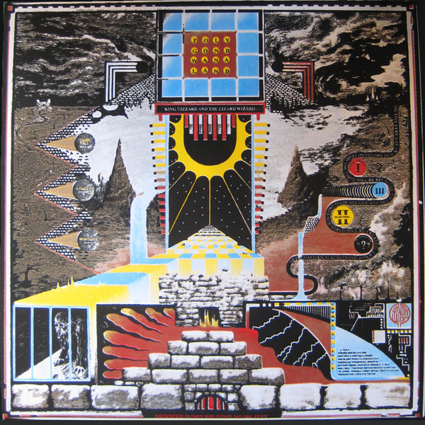 King Gizzard And The Lizard Wizard ‎– Polygondwanaland - New Lp Record 2017 Shuga Exclusive Clear Vinyl & Hand Screen Screened Starman Press Cover & Glow In The Dark Slipmat, Lyric/Liner Notes Insert, Poster & Sticker - Psychedelic Rock