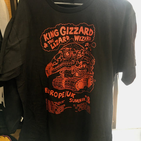 King Gizzard Europe / UK 2018 Summer Tour Tee