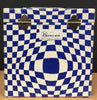 "7"" 45 Vintage Carry Carrying Case - Blue & White Psychedelic - Shuga Records Chicago"