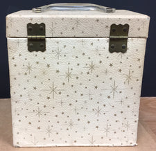 "7"" 45 Vintage Carry Carrying Case - STARS/Cream"