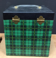 "7"" 45 Vintage Carry Carrying Case - Blackwatch Green Color"
