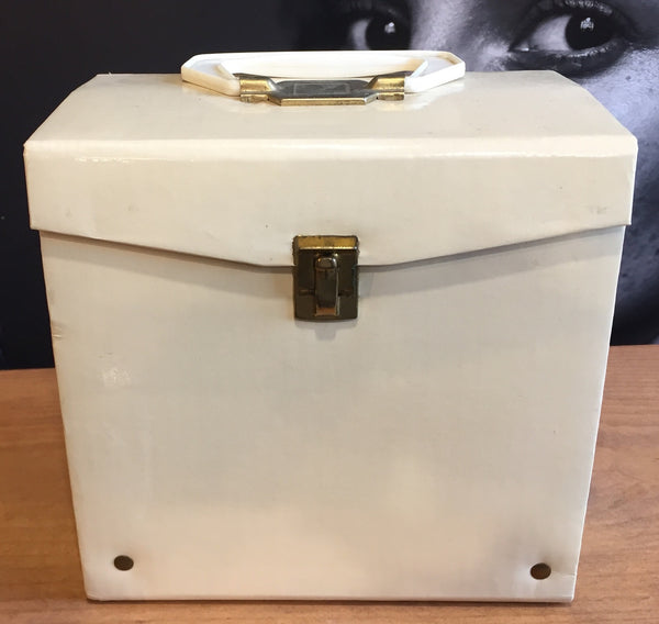 "7"" 45 Vintage Carry Carrying Case - Vinyl - Cream/Off White"