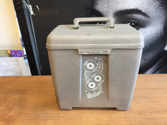 "7"" 45 Vintage Carry Carrying Case - Thick Plastic - Grey - Shuga Records Chicago"