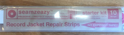 Seamzeazy - LP Jacket Edge Repair Starter Kit! Fix the split seams & edges of your LP Jackets in minutes, includes 10 Strips, seam splitter, + sanding disk!