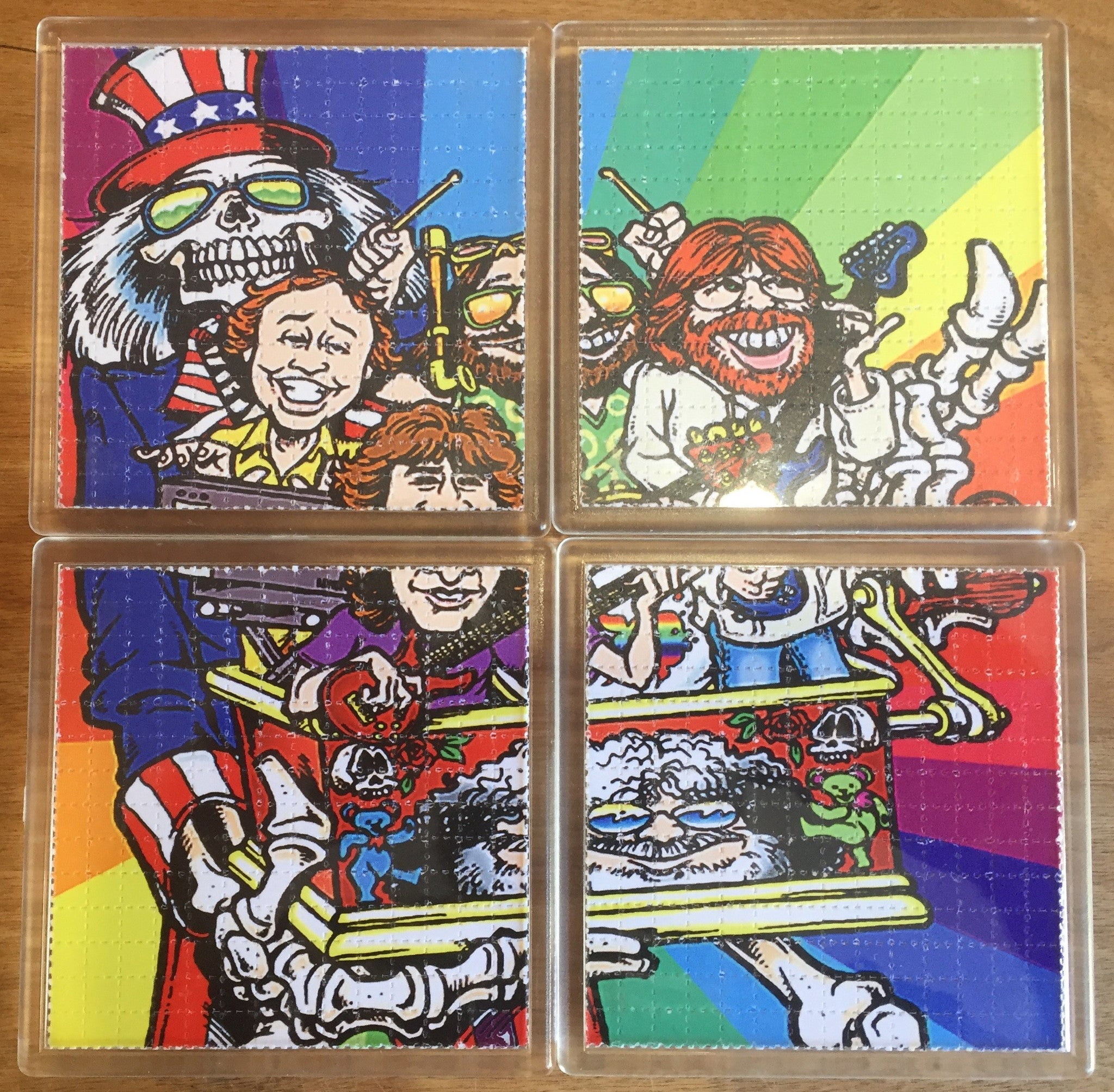 Grateful Dead - Psychedelic - Blotter Art - Highly Collectible Artwork Blotter Paper Coaster (4 pack)