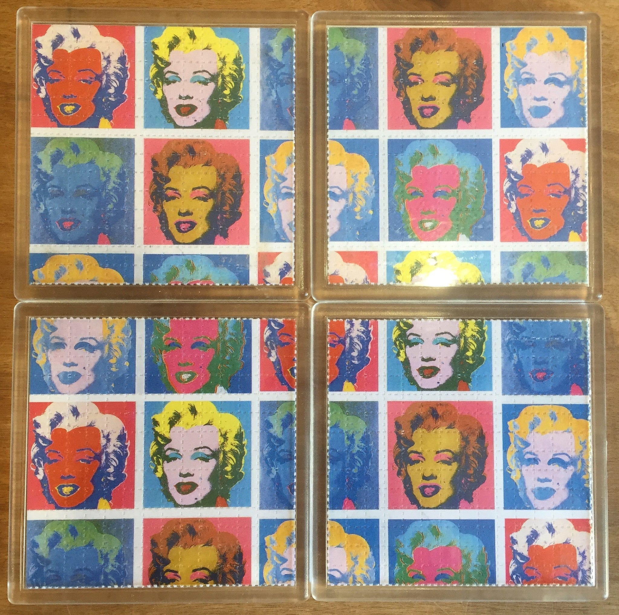 Marilyn Monroe - Psychedelic - Blotter Art - Highly Collectible Artwork Blotter Paper Coaster (4 pack)