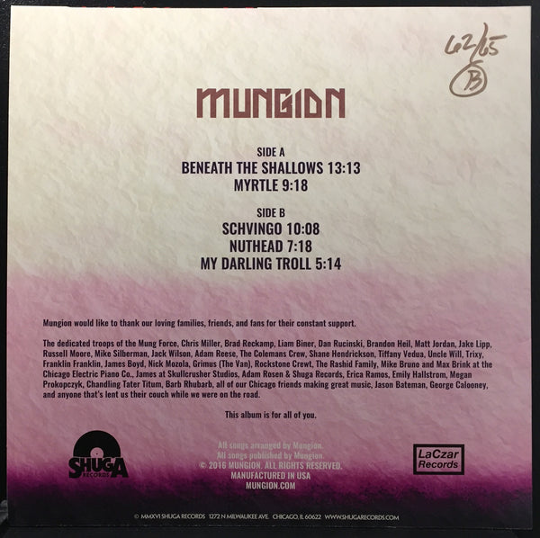 Mungion - Scary Blankets - New Lp Record Polar Ice Melt Translucent Blue Swirl Colored Vinyl 2016 Shuga Records - Chicago Progressive Jam Band