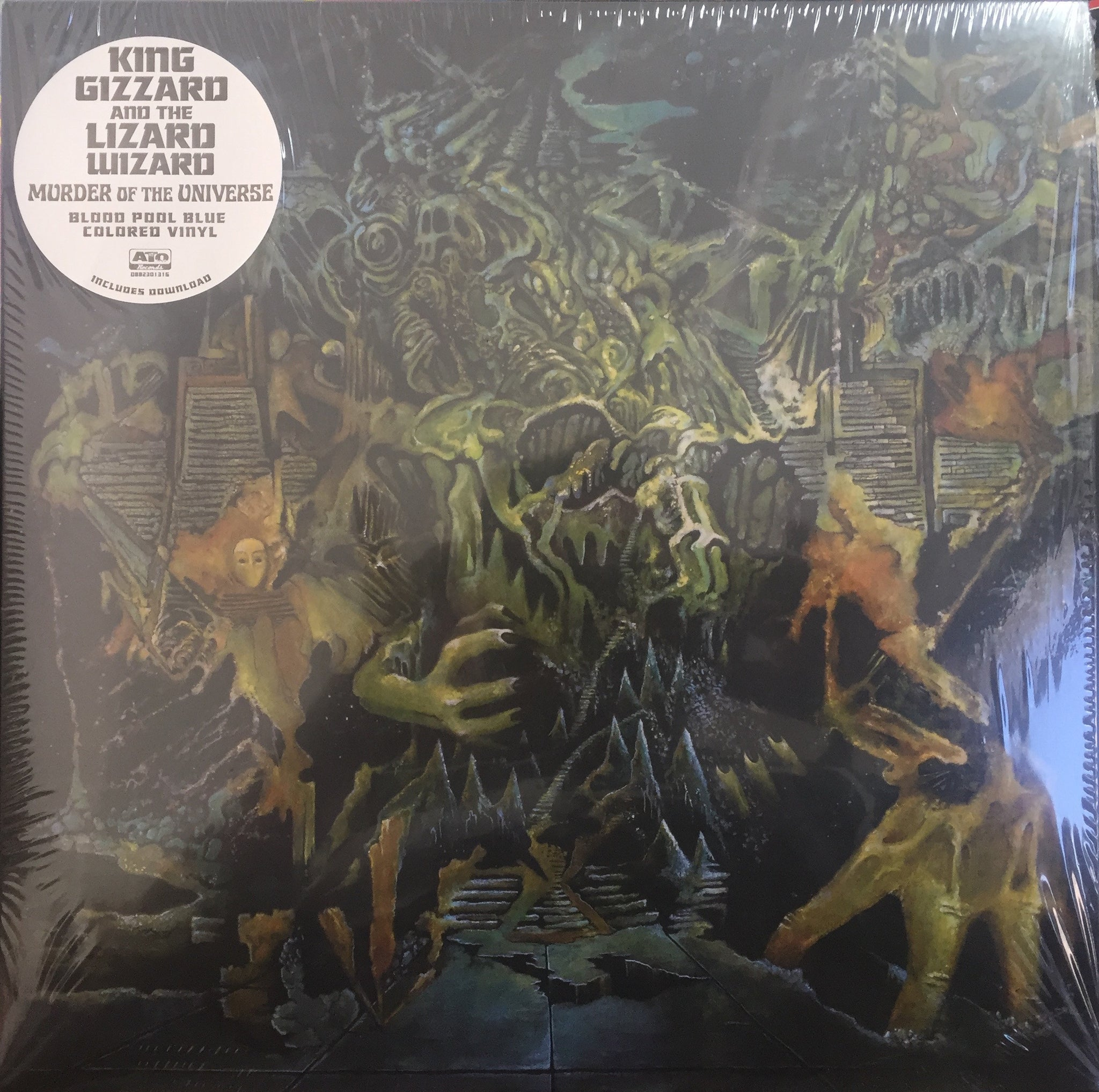 King Gizzard And The Lizard Wizard ‎– Murder Of The Universe - New Lp Record 2017 ATO USA Indie Exclusive Blood Pool Blue Vinyl, Book, Promo Poster, Sticker & Download - Psychedelic Rock