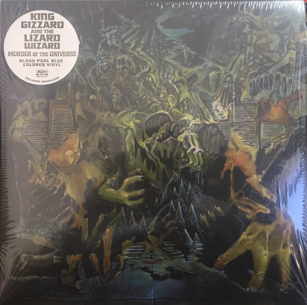 King Gizzard & the Lizard Wizard - Murder of the Universe - New Vinyl 2017 ATO Indie Exclusive Edition on 'Blood Pool Blue' Colored Vinyl ltd to 3000 (Includes Book & Download) - Psych / Garage HIGHLY RECOMMENDED!