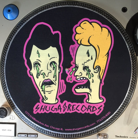 Shuga Records 2015 Limited Edition Vinyl Record Slipmat Beavis and Butthead