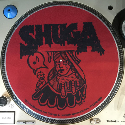 Shuga Records 2015 Limited Edition Vinyl Record Slipmat Red Queen with Bleeding Eyes
