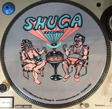 "Shuga 2015 Limited Edition Slipmat (1st Run) - Capozzoli ""Sun-Bathing Animals"" Shuga Couple in Lawn Chairs"