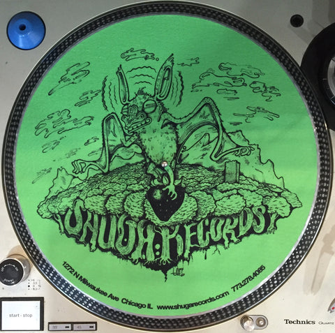 Shuga Records 2015 Limited Edition Vinyl Record Slipmat Green Bat with Trees