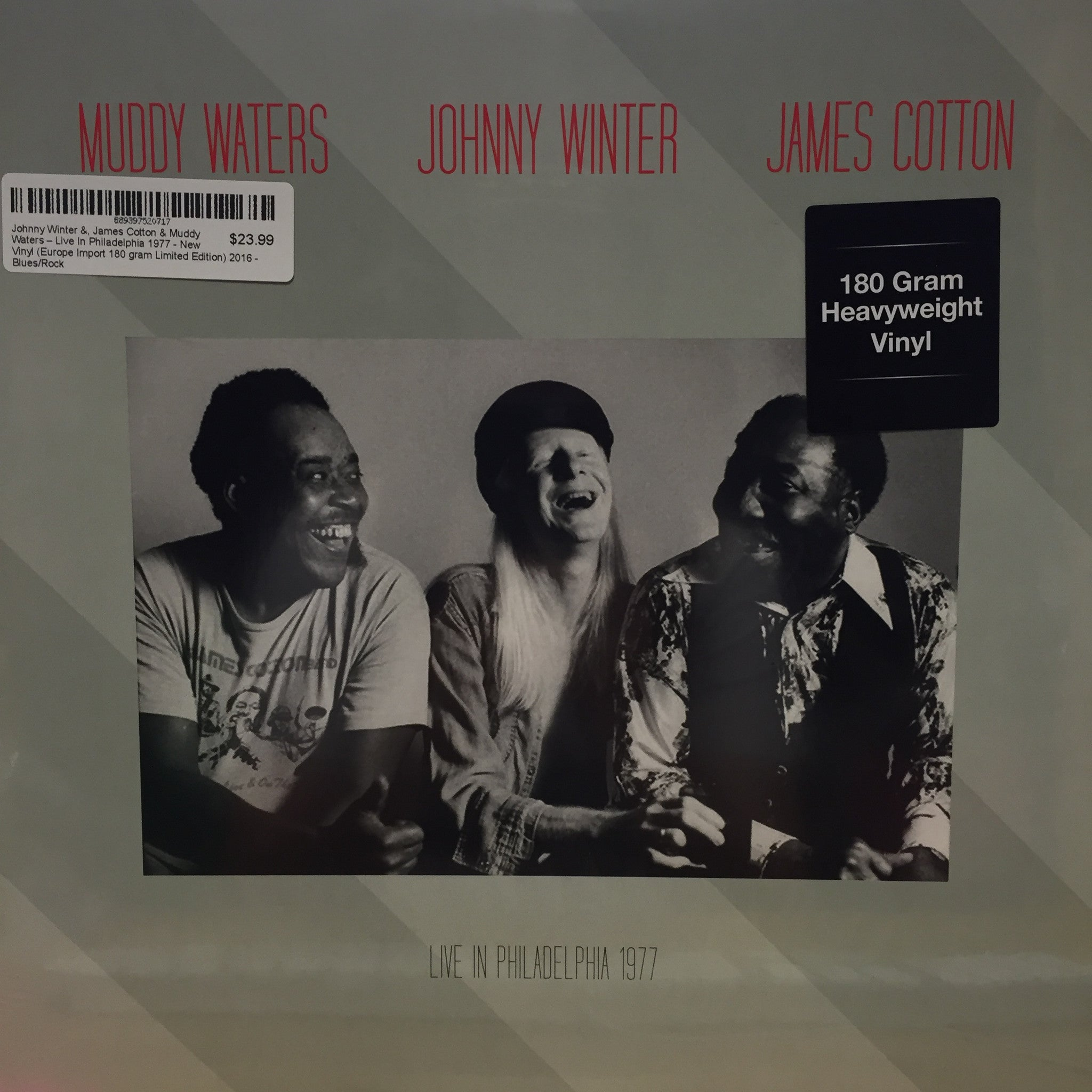 Johnny Winter &, James Cotton & Muddy Waters ‎– Live In Philadelphia 1977 - New Vinyl DOL (Europe Import 180gram Limited Edition) 2016 - Blues/Rock