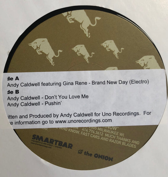 "Andy Caldwell ‎– Brand New Day (Electro) / Don't You Love Me / Pushin' - Mint 12"" Single Record 2005 AREA DJ Smartbar May - Chicago House / Electro"