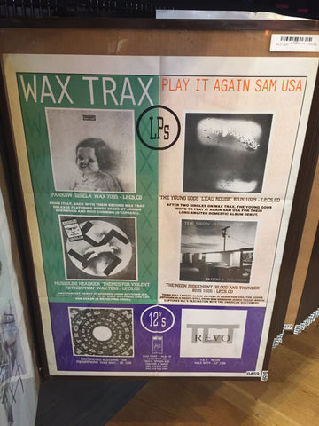 "Wax Trax! Records - Play It Again Sam - LP's and 12""s - (promo) - 0459"