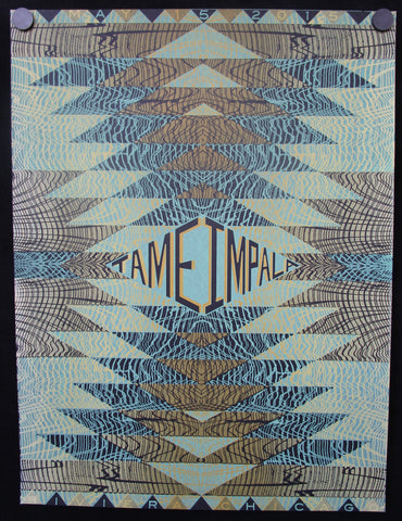 "18"" x 24"" Tame Impala - 2015 Riviera Theatre Chicago (GREEN Variant) SHUGA EXCLUSIVE Starman Press Screen Print Poster"
