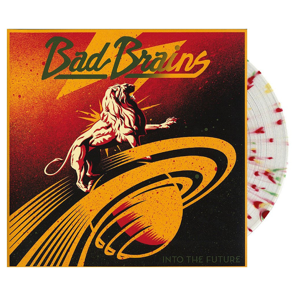 Bad Brains ‎– Into The Future - New Vinyl Record (Opened To Verify Color) 2012 USA (Limited Edition Clear With Red, gold & Green Splatter Vinyl